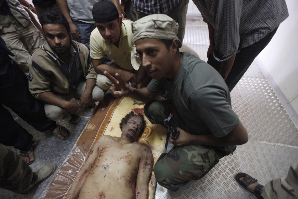 Moammar Gadhafi died from gunshot to the head