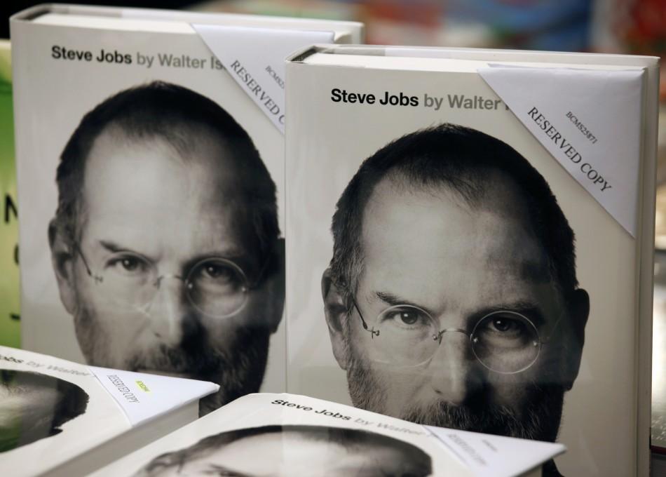 Copies of Steve Jobs' biography.
