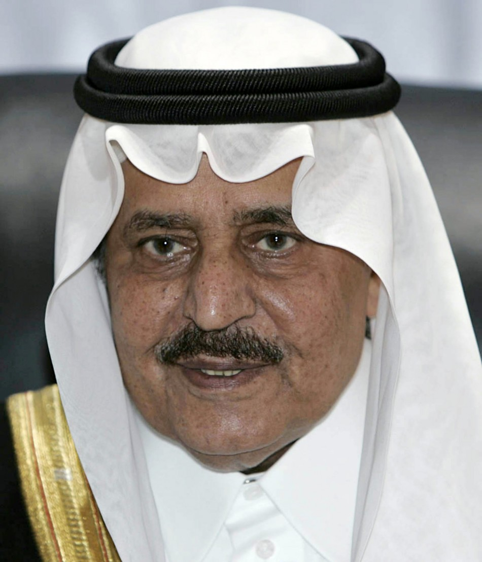 File photo of Saudi Interior Minister Prince Nayef attending a news conference in the holy city of Mecca