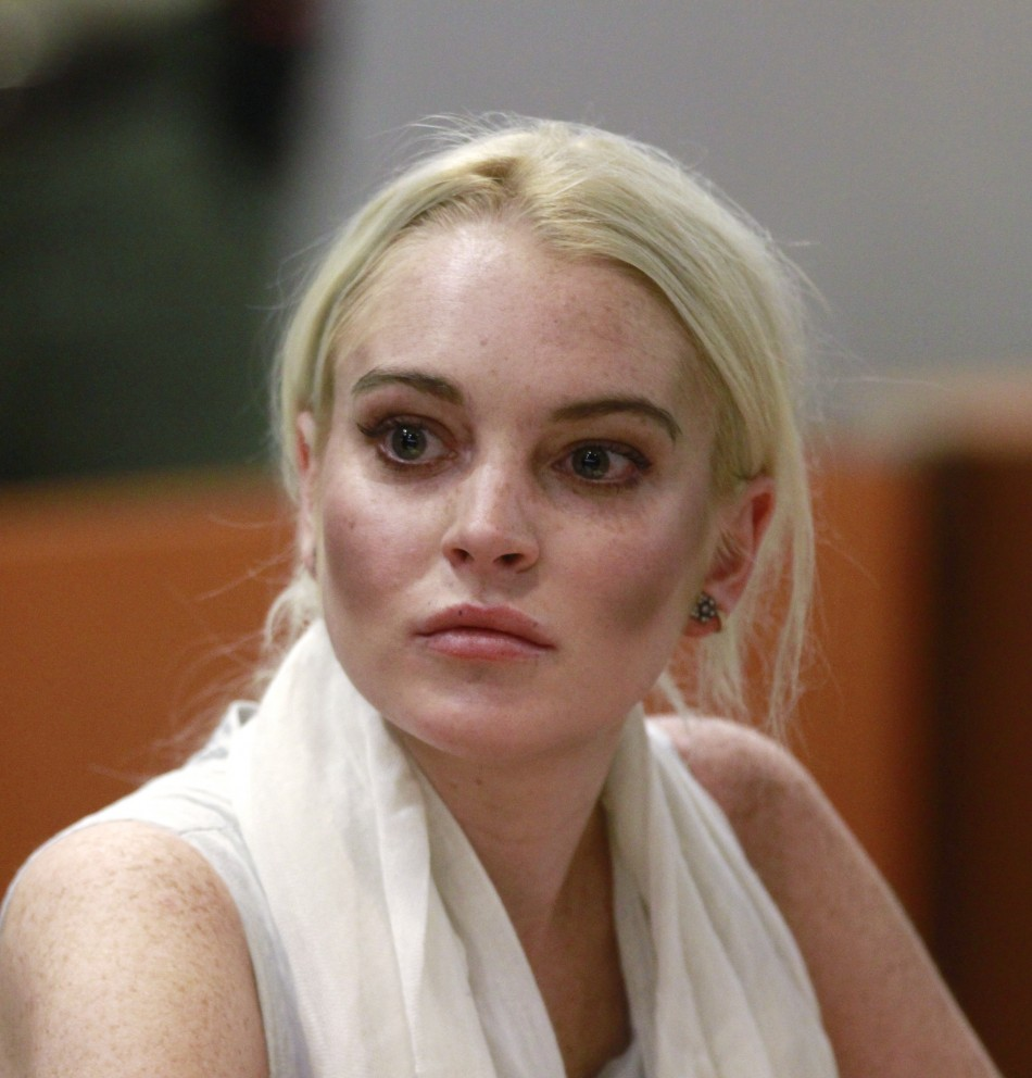 Actress Lindsay Lohan attends a progress report hearing at Airport Branch Courthouse in Los Angeles October 19, 2011