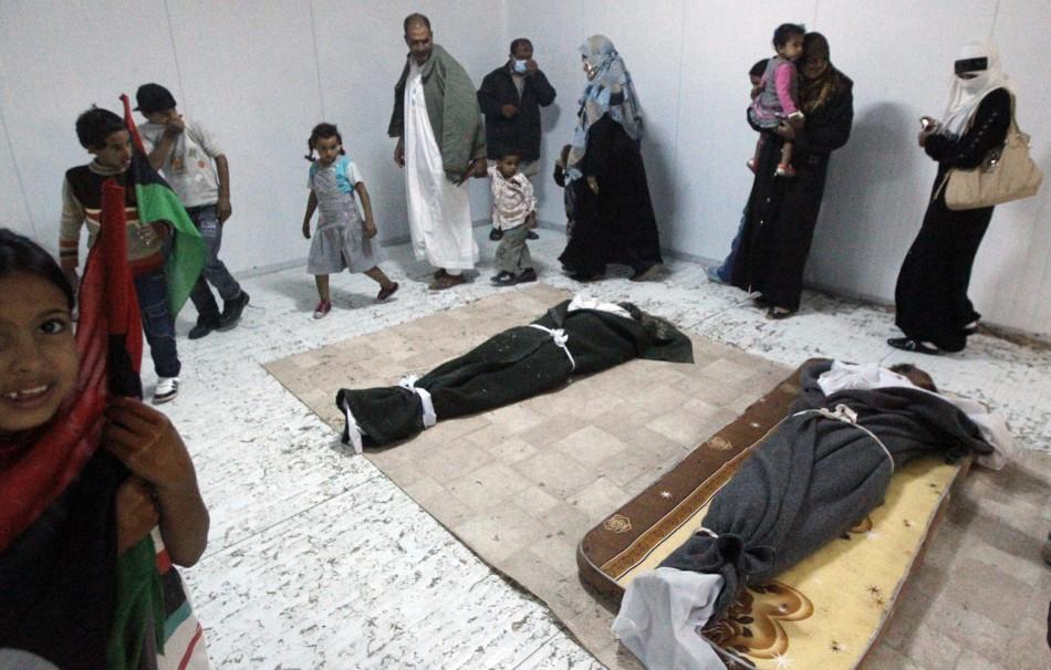 Muammar Gaddafi body