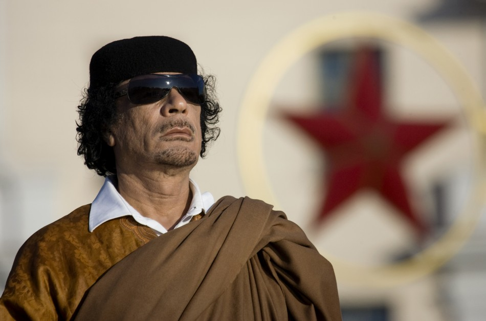 Former Libyan leader Moammar Gaddafi