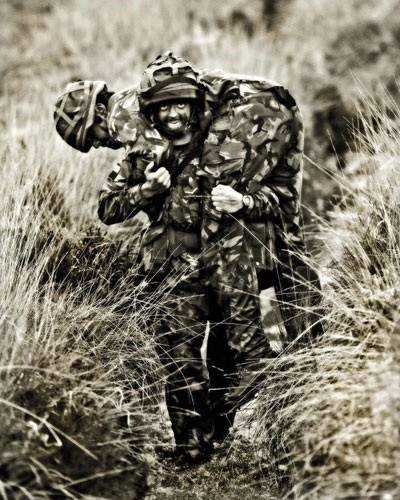 A soldier taking part in a training exercise, taken as part of Capt Dave Scammells portfolio which won the Amateur Portfolio Category.