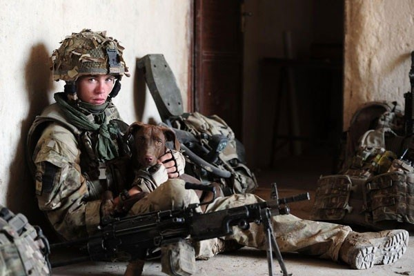 Rifleman Ross Mills, serving with A Company, 1 RIFLES in Helmand, Afghanistan