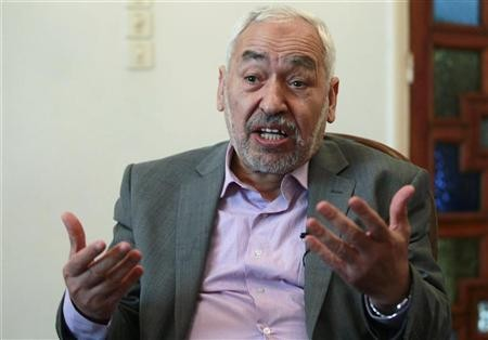 Sheikh Rachid Ghannouchi, head of the Ennahda party