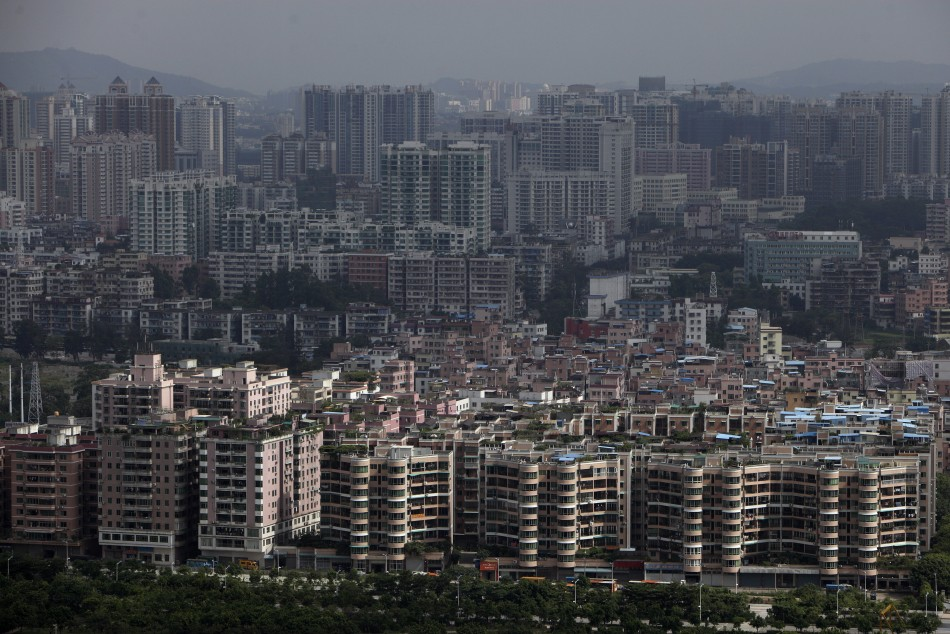 A general view of uptown in the southern Chinese city of Guangzhou