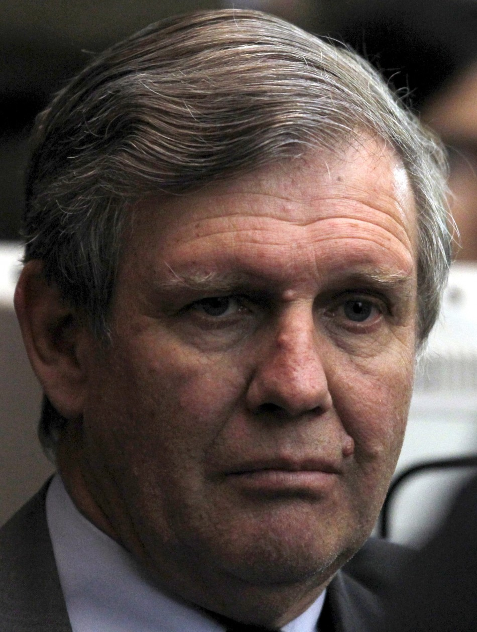 Former Argentine navy officer Astiz attends a trial in Buenos Aires