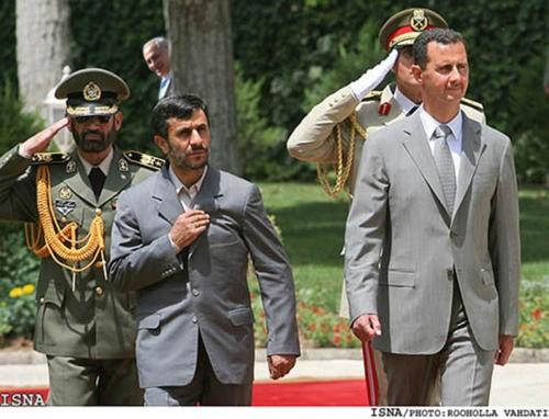 Bibi spying on Ahmadinejad and Assad