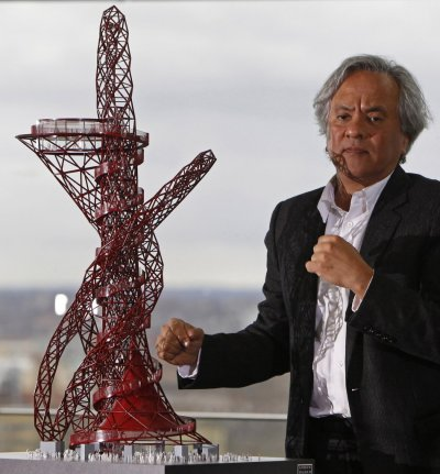 British artist Anish Kapoor unveils a scale model of his design, the quotArcelorMittal Orbitquot, which is due to be installed in the Olympic Park as part of Londons 2012 Olympic Games, in London.