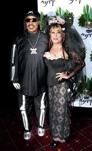Stevie Wonder and Bette Midler