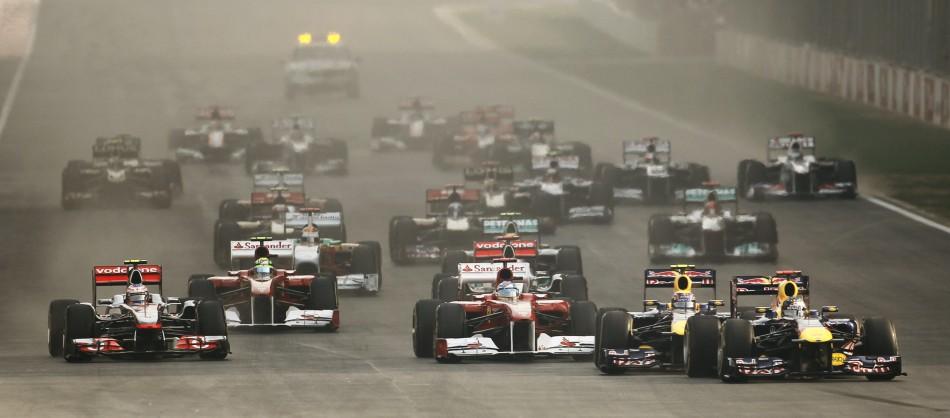 Vettel on Pole