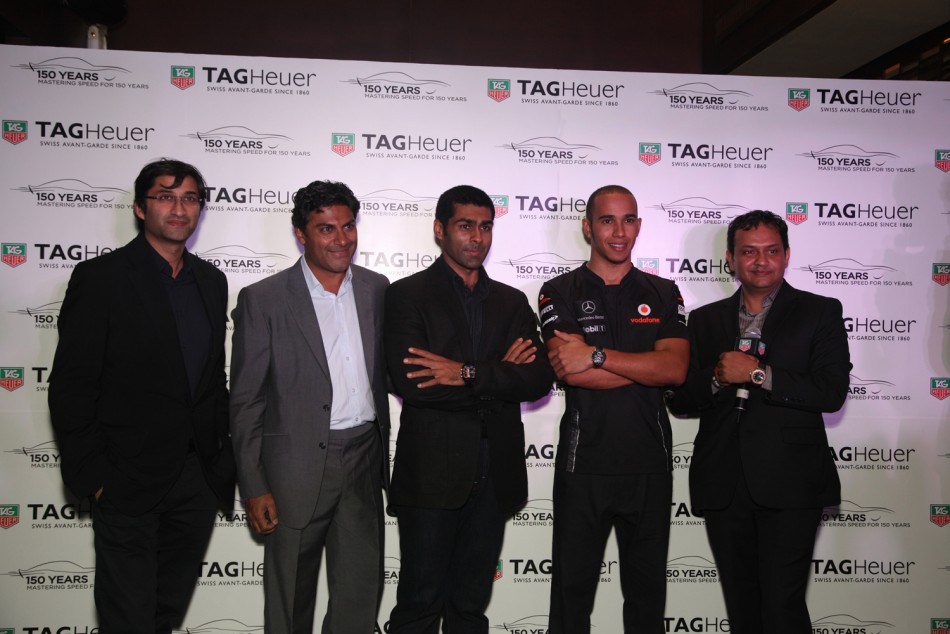 Lewis Hamilton Introduces Tag Heuer India Racing Limited Edition
