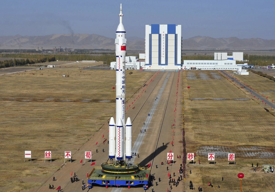 Long March II-F rocket, loaded with Shenzhou-8 spacecraft