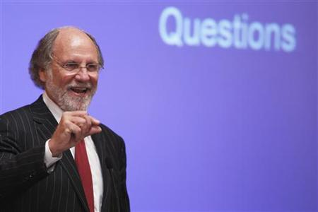 Jon Corzine, chairman and chief executive officer of MF Global Holdings, speaks during the Sandler O'Neill + Partners global exchange and brokerage conference in New York