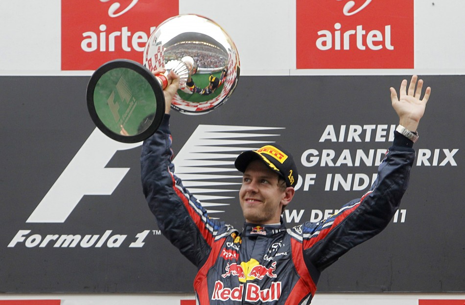 F1's Sebastian Vettel Celebrates Historic Win in India