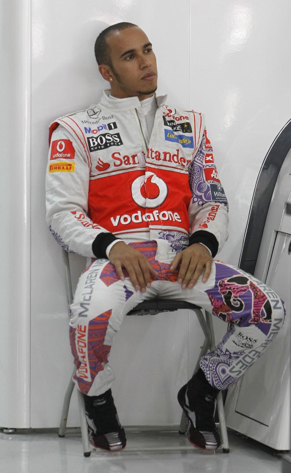 McLaren Formula One driver Lewis Hamilton