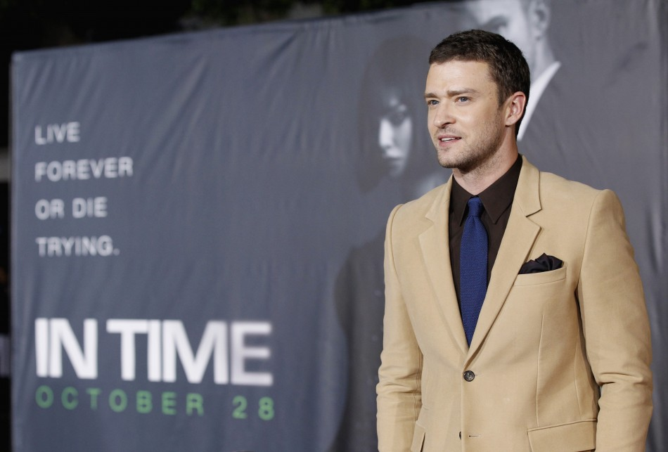 "Cast member Justin Timberlake poses at the premiere of ""In Time"" at the Regency Village Theatre in Westwood, California October 20, 2011"