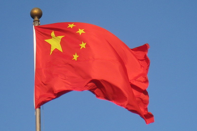 Chinese flag flying high