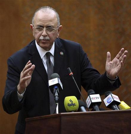 "Libya""s newly elected Prime Minister Abdul Raheem al-Keeb"