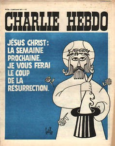 Charlie Hebdo cover with image of Jesus