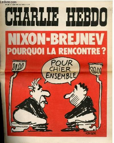 Charlie Hebdo Cover mocking a Nixon-Brejenev meeting