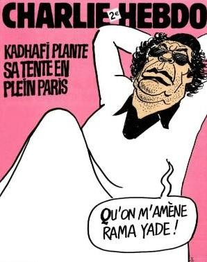 Charlie Hebdo Cover with Gaddafi