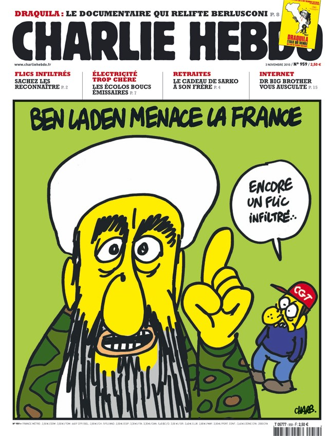 Charlie Hebdo Cover with Bin Laden