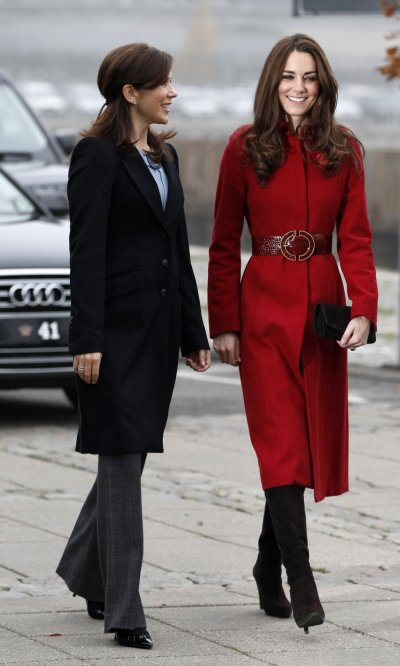 Kate Middleton Donning the Radiant Red