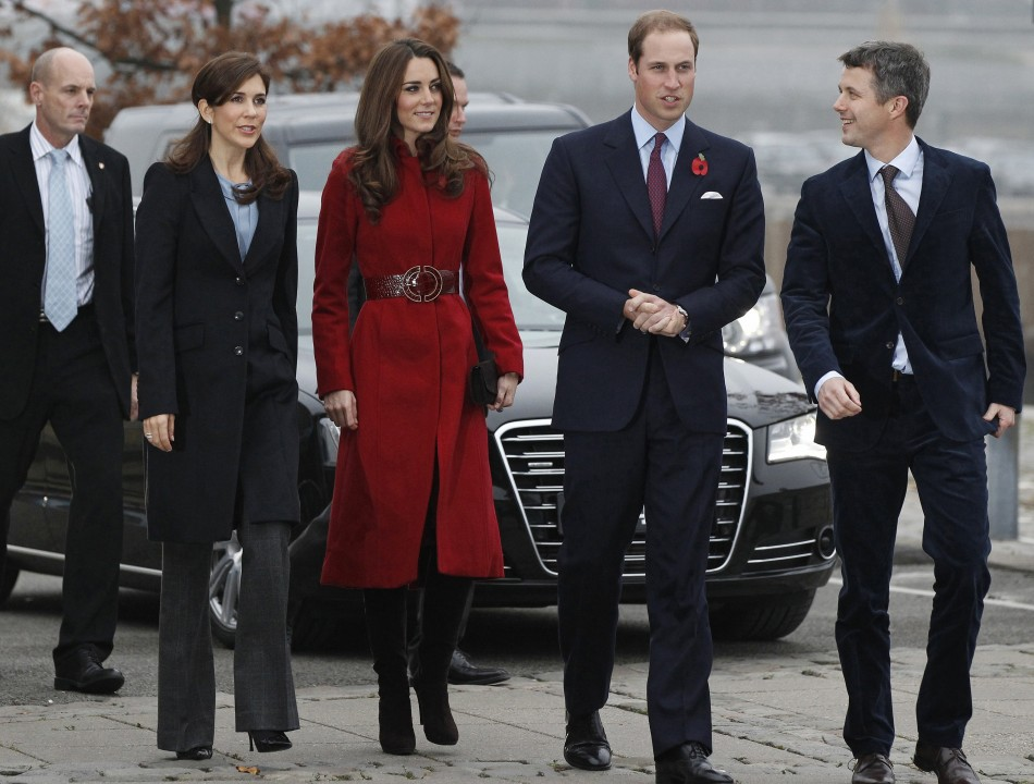 Kate and William with Crown Prince and Princess of Denmark