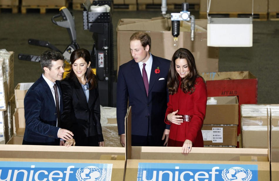 Kate and William with the Crown Prince and Princess of Denmark