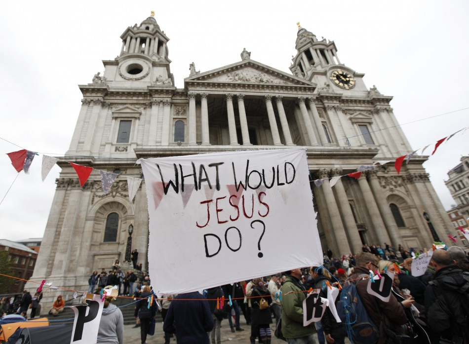The OccupyLSX protest at St Paul's.