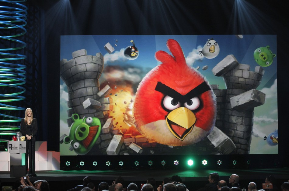 Actress Lisa Kudrow announces that the game Angry Birds has won Best Mobile Game award at the 15th annual Webby Awards in New York June 13, 2011.