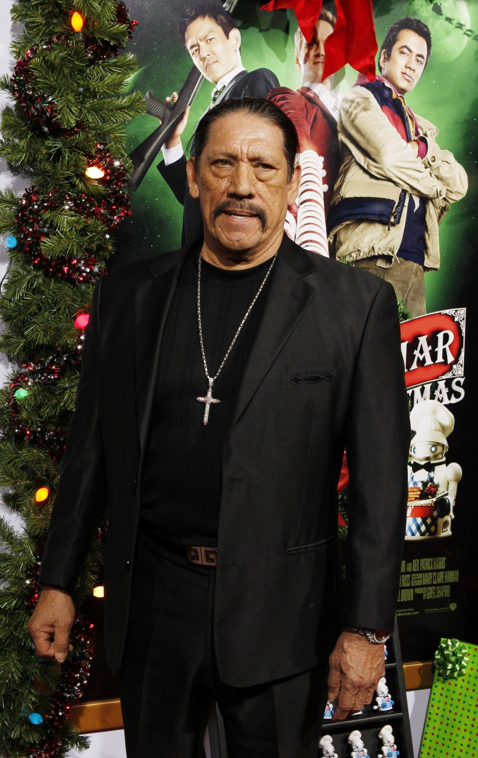 Actor Danny Trejo poses at the premiere of his new film quotA Very Harold  Kumar 3D Christmasquot in Hollywood November 2, 2011