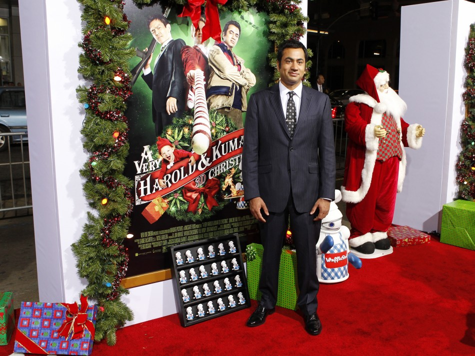 Actor Kal Penn poses at the premiere of the new film quotA Very Harold  Kumar 3D Christmasquot in Hollywood