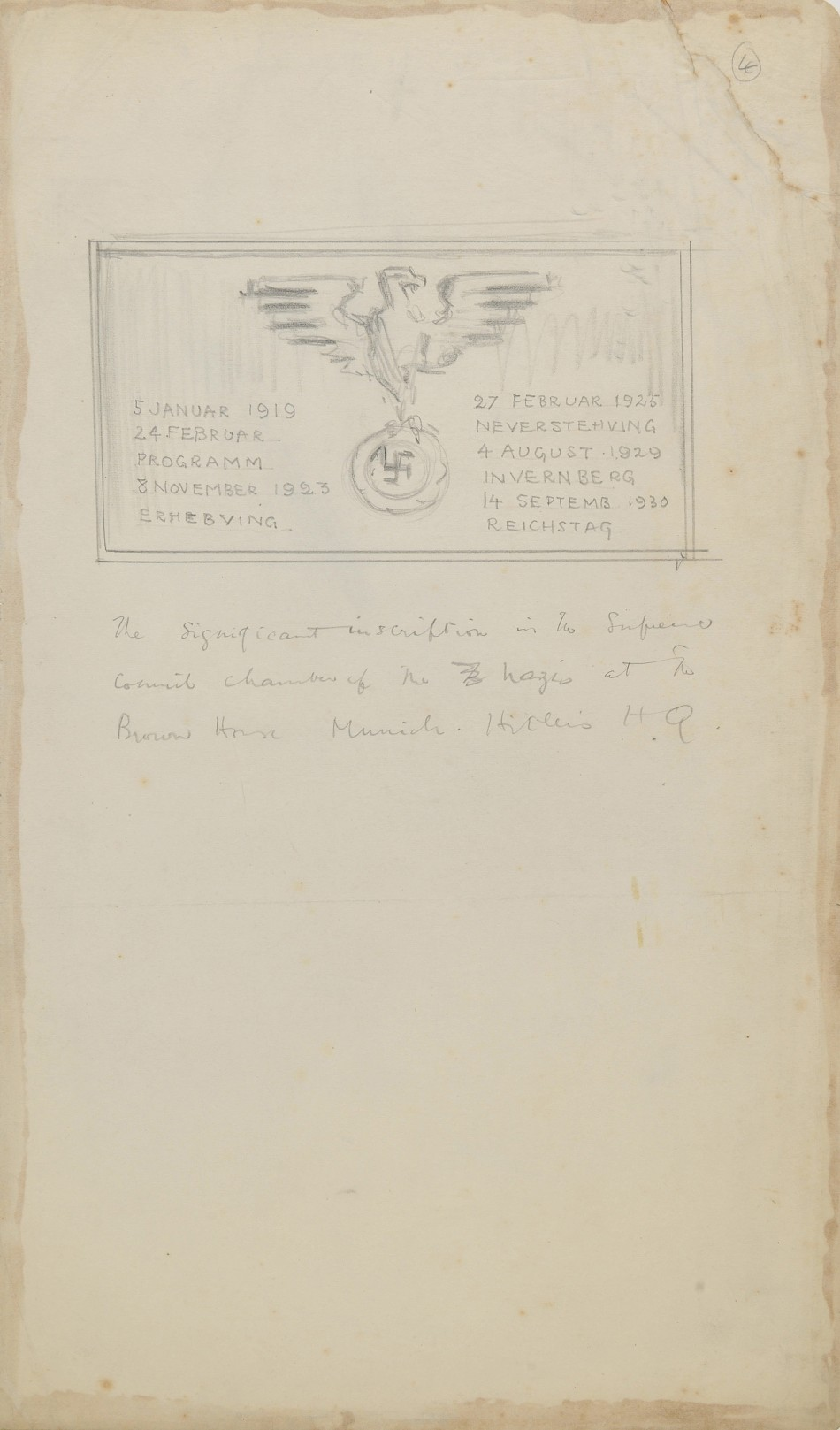 An inscription in the supreme council chamber. All of Helen McKies images from inside the Brown House will be sold at auction on November 17  Read more