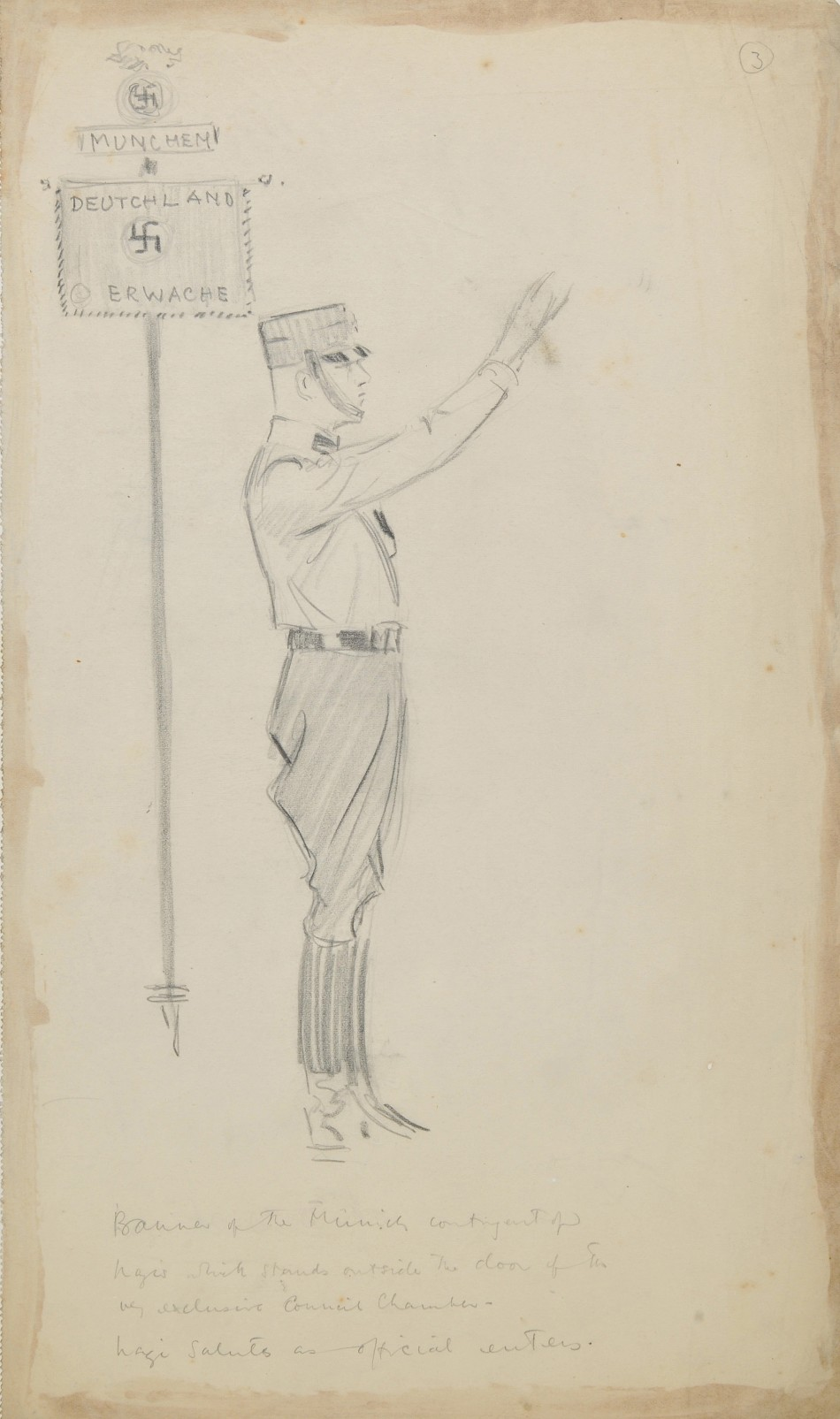 Lost Sketches of Adolf Hitler and Top Nazis Go Under The Hammer