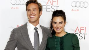 """Actor Armie Hammer and wife Elizabeth Chambers pose at the opening night gala for AFI Fest 2011 with the premiere of his new film film """"J. Edgar"""" directed by Clint Eastwood in Hollywood"""
