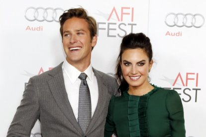 "Actor Armie Hammer and wife Elizabeth Chambers pose at the opening night gala for AFI Fest 2011 with the premiere of his new film film ""J. Edgar"" directed by Clint Eastwood in Hollywood"