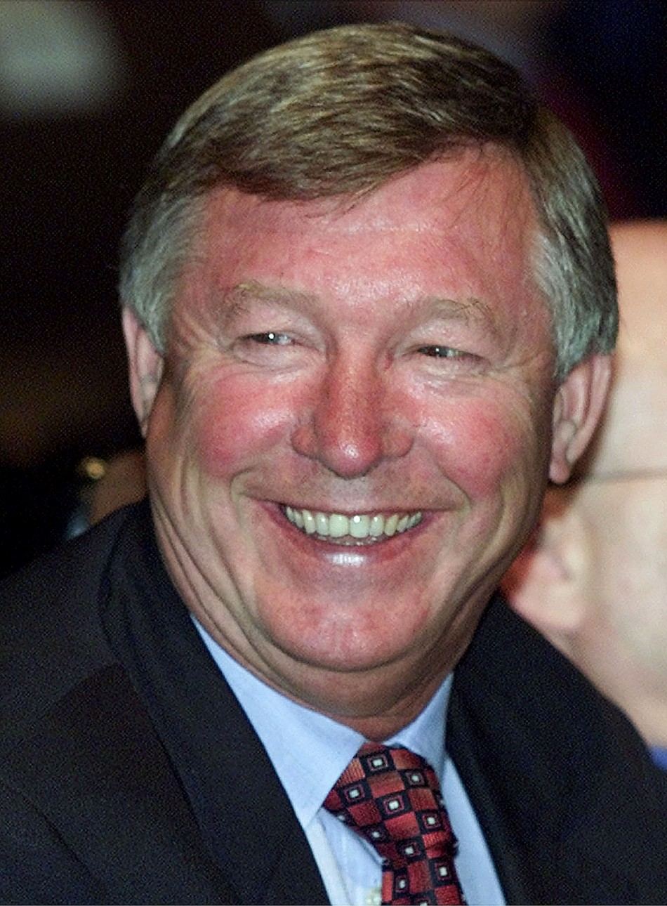Manchester Uniteds coach and manager Sir Alex Fergusson