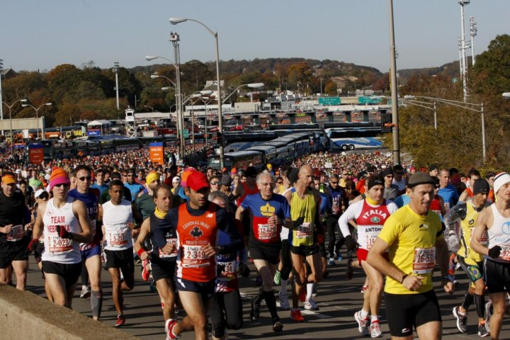 Start of 2011 NYC Marathon