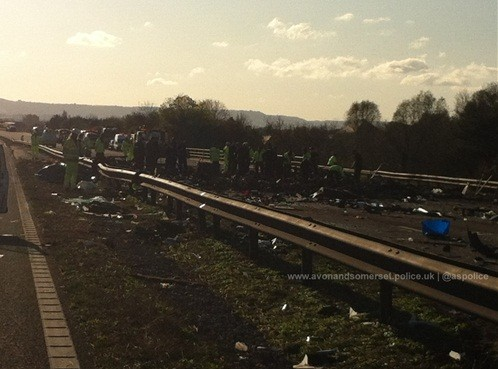 The Aftermath of the M5 Motorway Crash