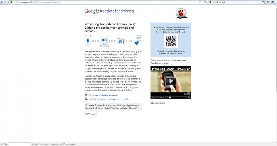 Google Translate for Animals.