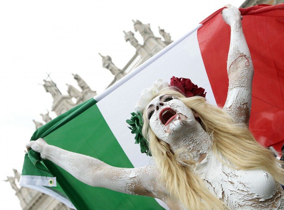 Femen join anti-Berlusconi protest