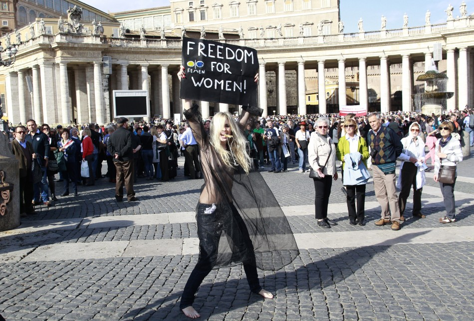 Femen anti-Catholic Church protest