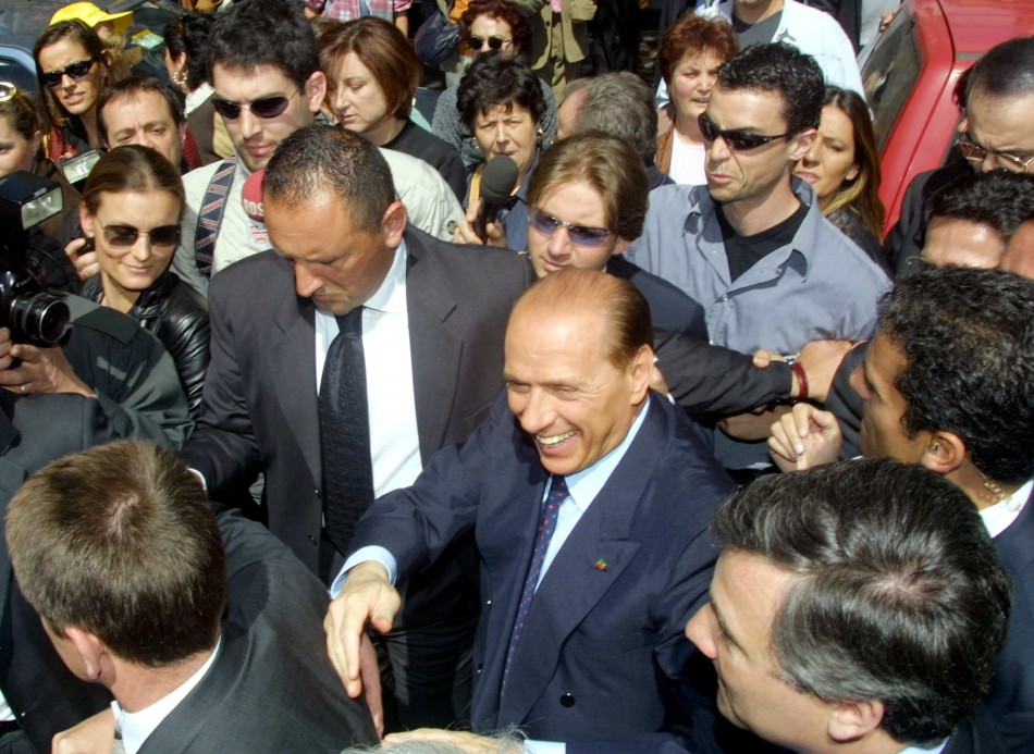 Berlusconi meets his 'fans'