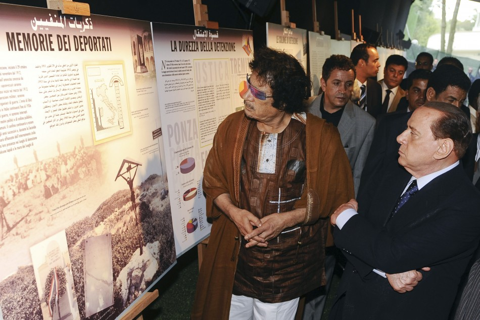 Berlusconi and Gaddafi on a Cultural Trip