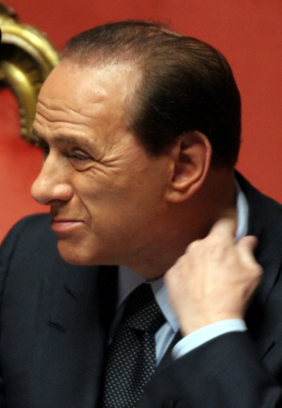 Italy's Prime Minister Silvio Berlusconi announces resignation in  2005