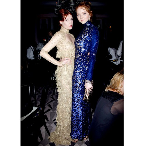 Florence Welch and Lily Cole