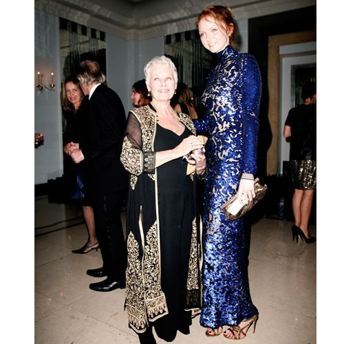 Dame Judi Dench and Lily Cole