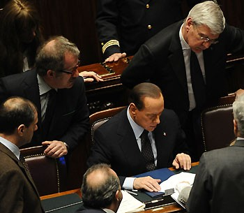 Berlusconi Counts Votes after losing majority in Italian parliament